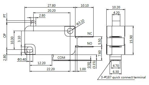 电热水龙头专用微动开关va1-26q-尽